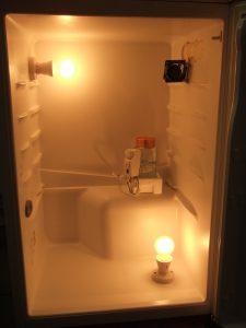 Fridge converted into honey warming cabinet