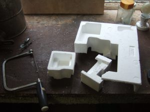 Polystyrene heat sink holder