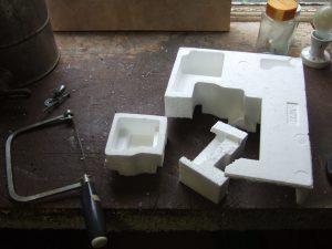 Polystyrene heat sink holder