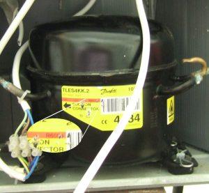 R600a sticker on compressor